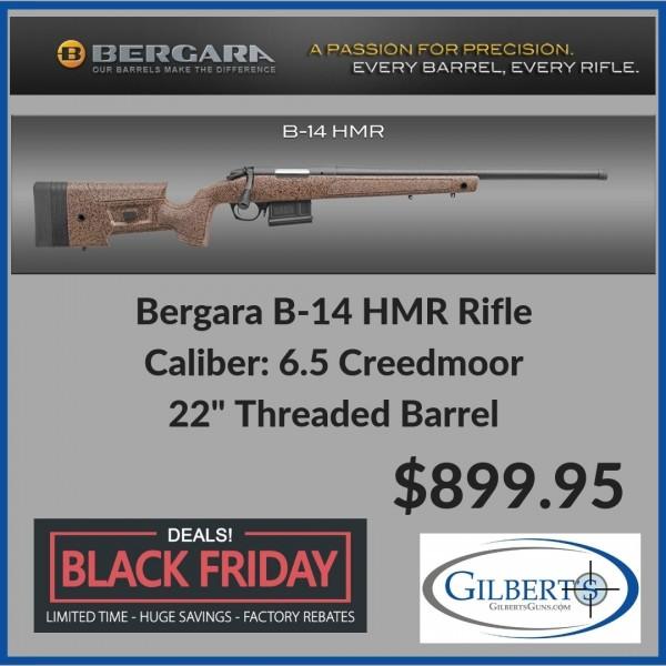 Bergara B-14 HMR 6 5 Creedmoor Mini Chassis Rifle With 22