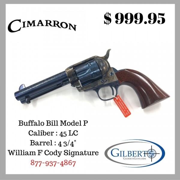 Cimarron Model P Deluxe Buffalo Bill 45 LC 4 3/4