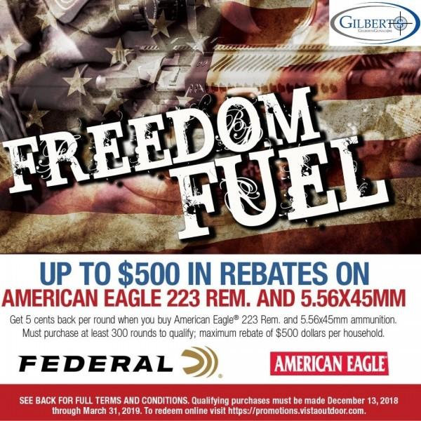 American Eagle Rebate >> Federal American Eagle Msr Xm193 5 56 55 Grain Fmj Ammunition 500 Round Case