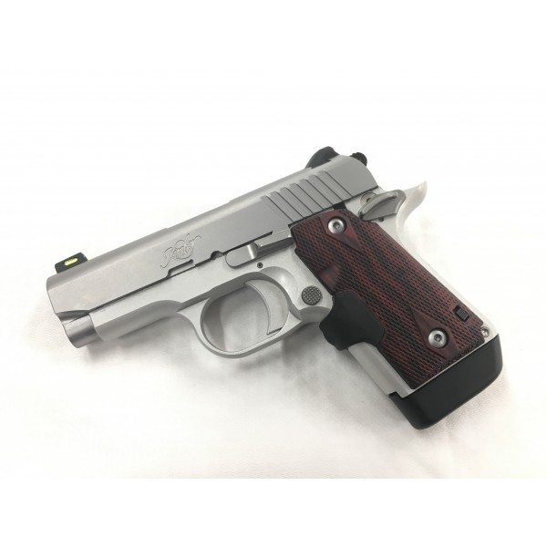 Kimber 9mm Micro 9 Stainless Tfx Pr: Kimber Micro 9 Stainless 9mm Pistol With Crimson Trace Red