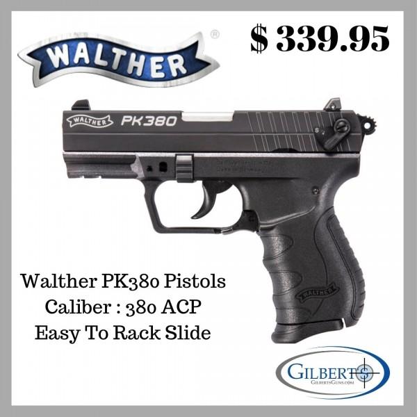 Walther Pk380 380 Acp Pistol With 366 Barrel 1 Magazine 5050308