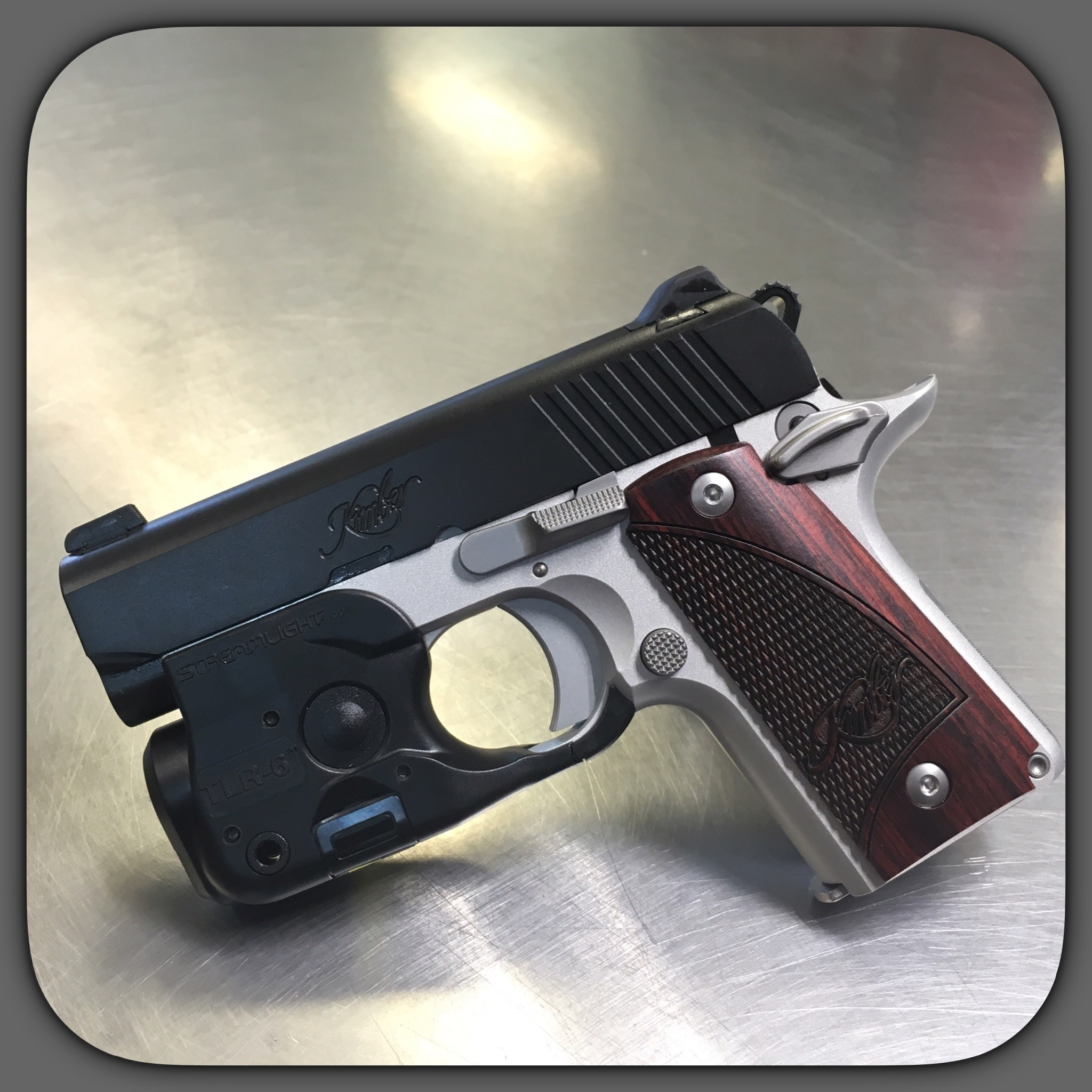 Kimber Micro 380 Two Tone Pistol With Streamlight Tlr 6