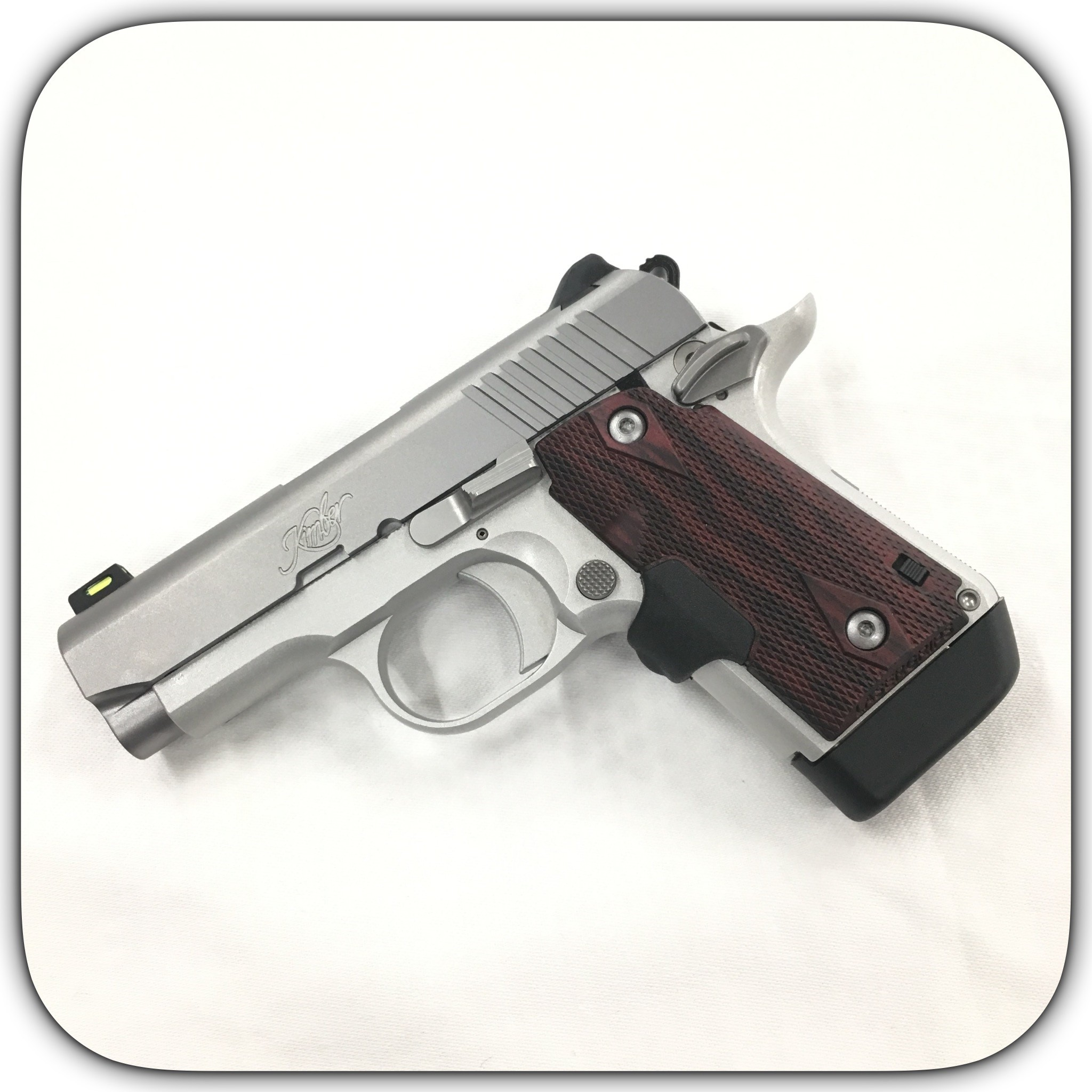 Kimber Micro 9 Stainless 9mm Pistol With Crimson Trace Red Lasergrips  3700482