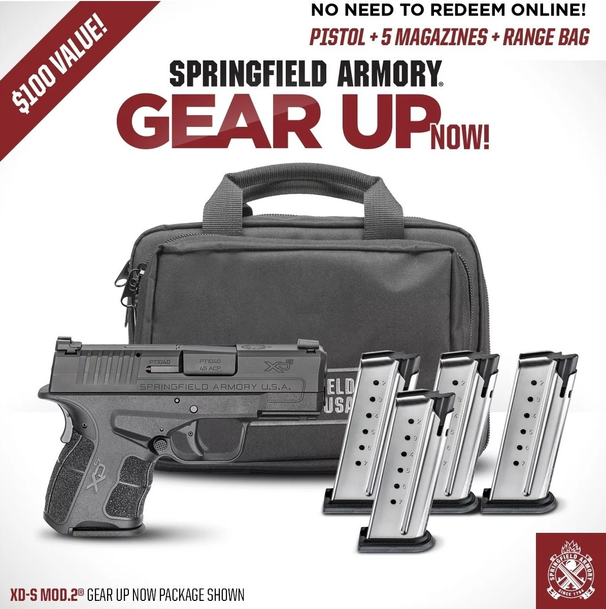 Springfield XDS Mod 2 9mm Package With 5 Magazines & Range