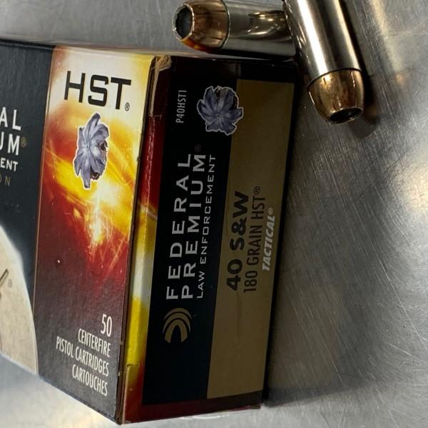 Federal Tactical 40 Caliber HST 180 Grain Ammunition 50 Count Box P40HST1
