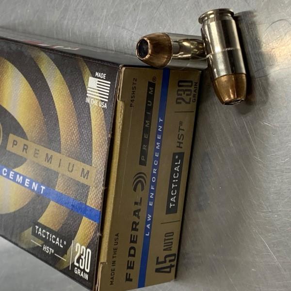 Federal Tactical 45 ACP HST 230 Grain Ammunition 50 Count Box P45HST2