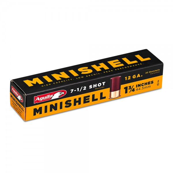 "Aguila 12 Gauge MiniShell 1 3/4"" Shotshell 7 1/2 Shot.  20 Count Box"
