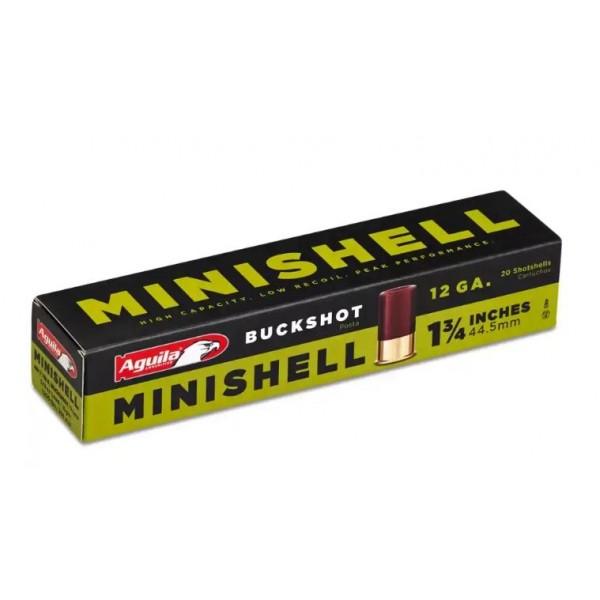 "Aguila 12 Gauge MiniShell 1 3/4"" Buckshot Shotshell.  5/8 Oz Load"