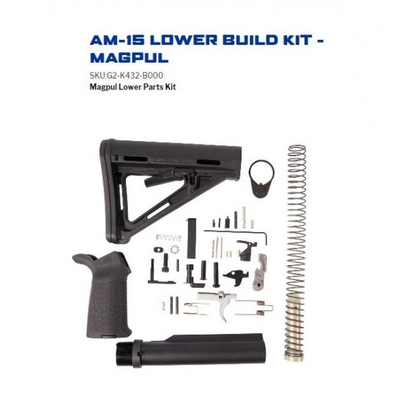 Anderson AM15 Lower Build Kit With Mapul MOE Buttstock G2-K432-B000