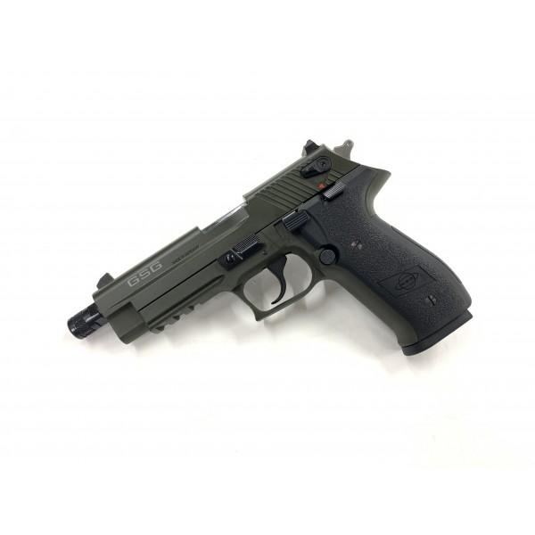 GSG Firefly 22LR Pistol With Threaded Barrel Green GERG2210TFFG
