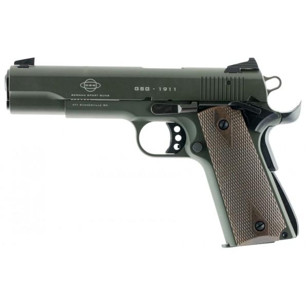 "American Tactical GSG 1911 Green 22LR Pistol With 5"" Barrel GERG2210M1911G"