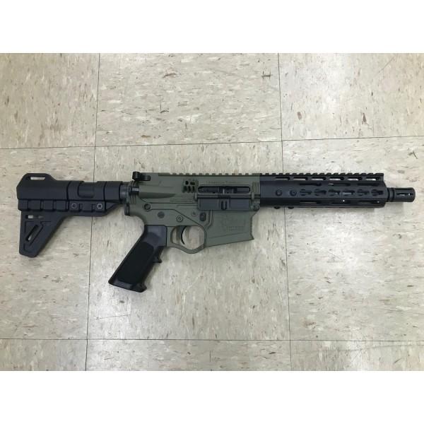 ATI Omni Hybrid MAXX 5.56 Pistol in BattleField Green With Blade