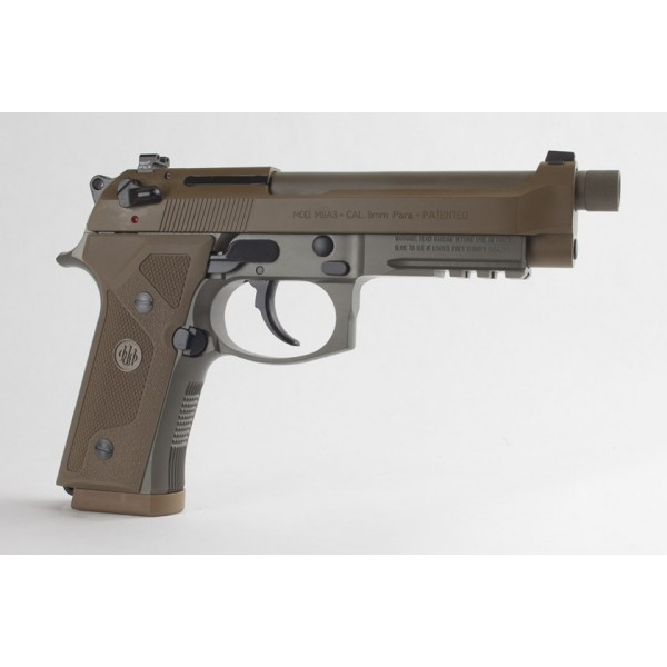 Beretta M9A3 9mm FDE Two Tone Pistol w/ 3 Mags, Night Sights & Threaded Barrel J92M9A3M