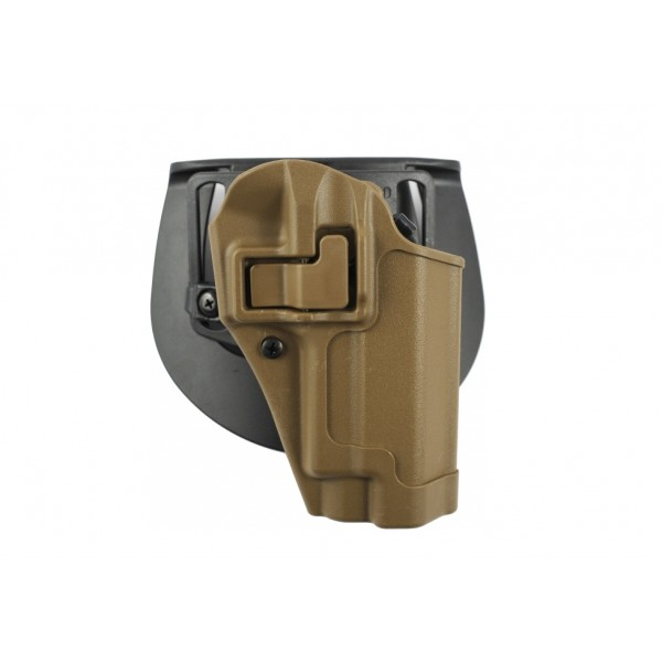 Blackhawk 410504CT-R Serpa Holster For Beretta 92 / 96  Pistols In Coyote Tan