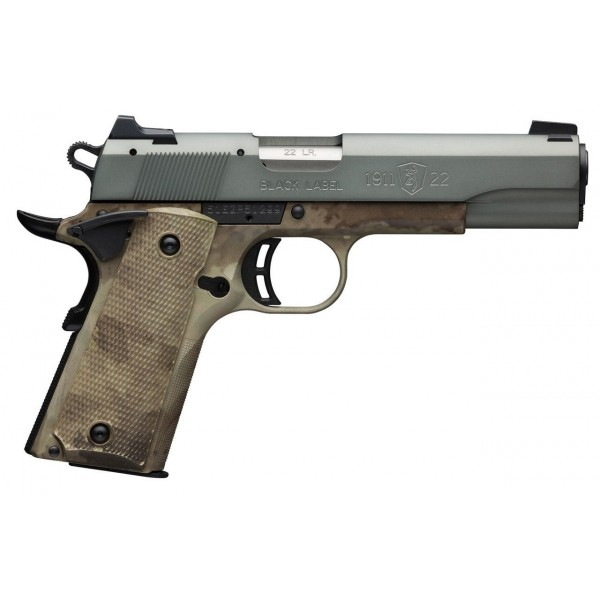 """Browning 1911-22 Black Label Speed Gray 22LR With 4 1/4"""" Barrel 051873490"""