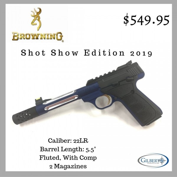 Browning Buck Mark Blue Lite Competition  22LR Pistol 051551490