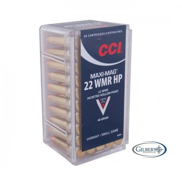 CCI Maxi Mag 22 Magnum 40 Grain Jacketed Hollow Point Ammunition 0024