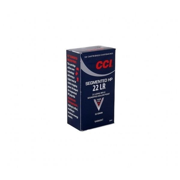 CCI Segmented Hollow Point 22LR 32 Grain HP Ammunition 0064 (500)