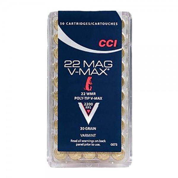 CCI V-Max 22 Magnum 30 Grain Polymer Tip Ammunition 0073