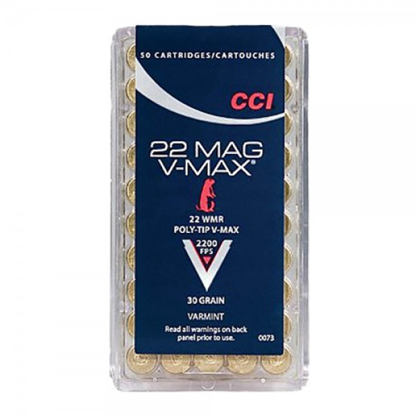 CCI 0073 V-Max 22WMR Ammunition