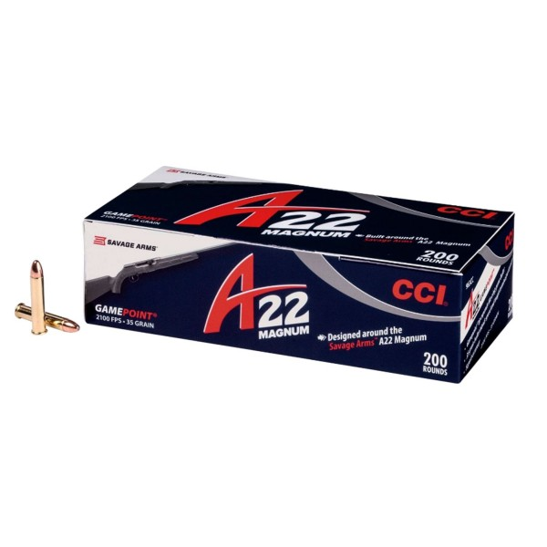 CCI A22 Magnum 35 Grain Ammunition (200 Rounds) 963CC