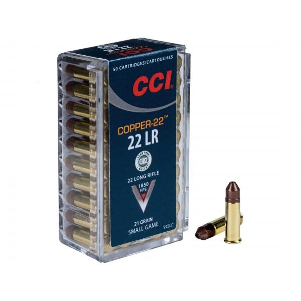 CCI Copper-22 22LR 21 Grain Ammunition (1850 FPS) 925CC