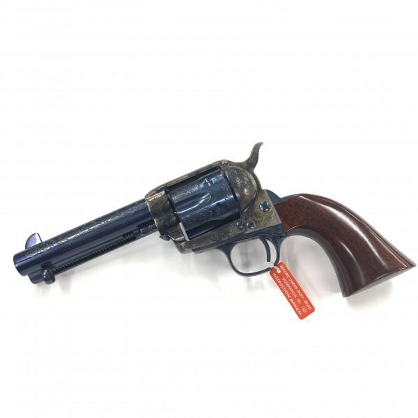 """Cimarron Model P Deluxe Buffalo Bill 45 LC 4 3/4"""" Charcoal Blue Revolver MP512C00BB"""