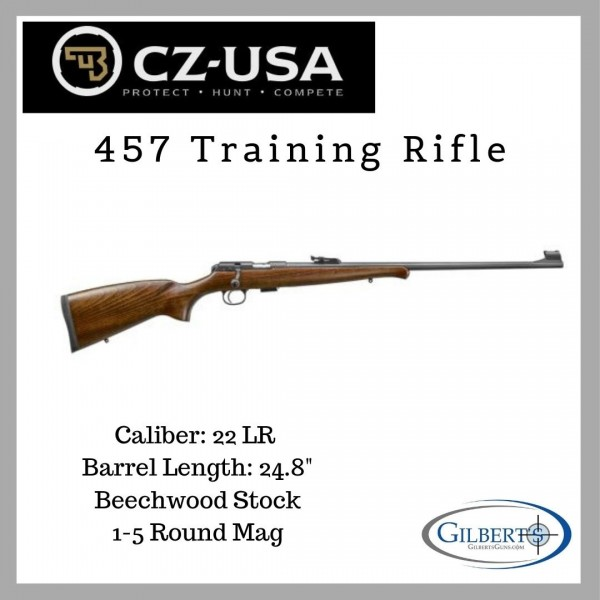 """CZ 457 22LR Training Rifle With 24.8"""" Barrel 02300"""