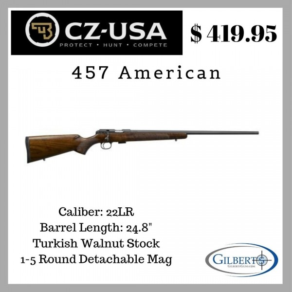 CZ 457 American 22 LR RIfle 02310