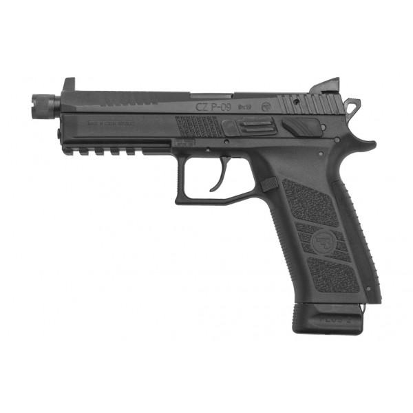 CZ P-09 9mm Black Pistol With Threaded Barrel & Tritium Night Sights 91270