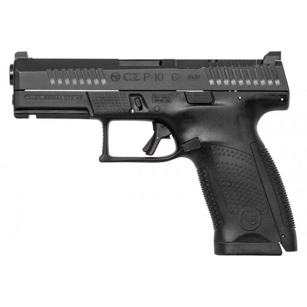 CZ P-10 C Compact  Optics Ready 9mm Pistol With 2-15 Round Magazines  95130