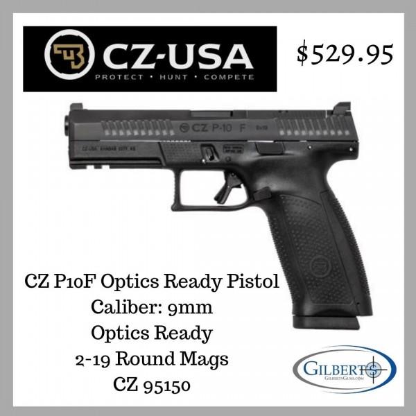 CZ P10F 9mm Optics Ready Pistol  95150