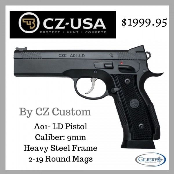 CZ A01-LD 9mm Custom Shop Pistol  91731