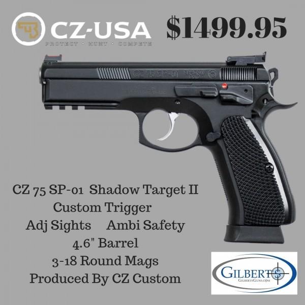 CZ 75 SP-01 Shadow Target II – (CZ Custom) 91760