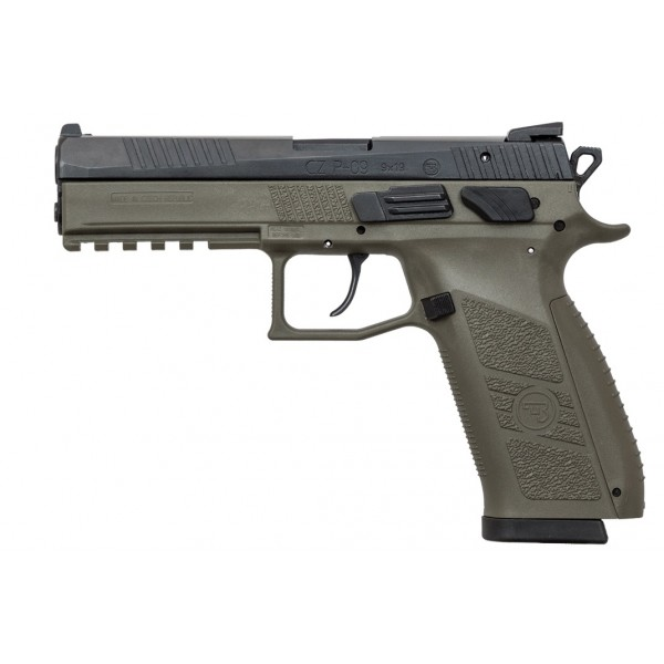 CZ P-09 9mm OD Green Pistol With Night Sights 91268