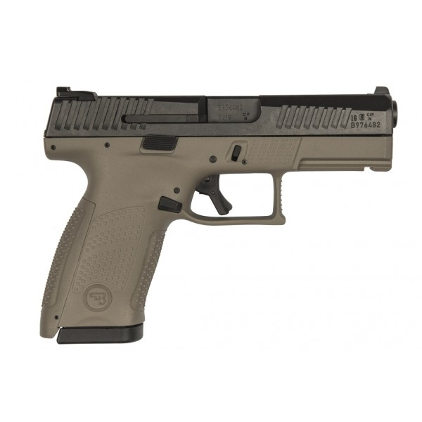 CZ P10 Compact 9mm FDE Pistol With Tritium Night Sights 91521
