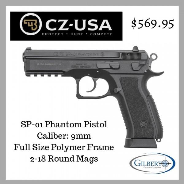 CZ SP-01 Phantom 9mm Pistol 91258
