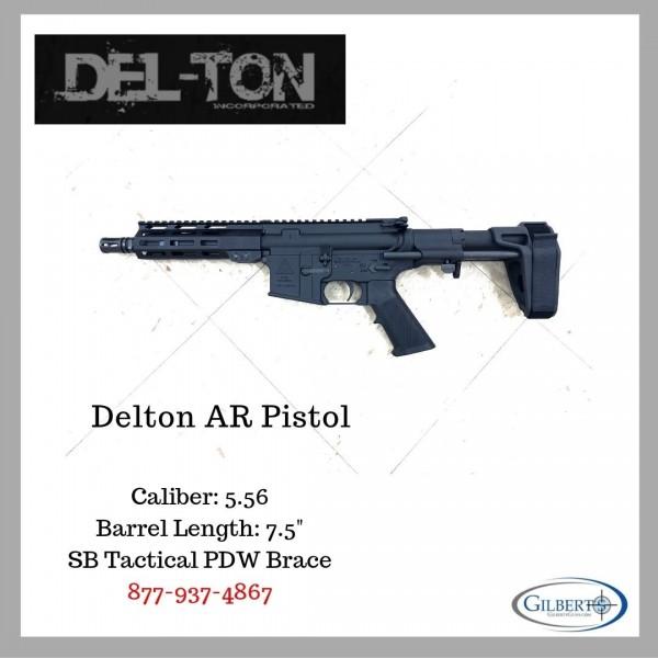 "Delton LIMA 5.56 Pistol With SB Tactical PDW Brace , 7.5"" Barrel & MLOK Rail System"