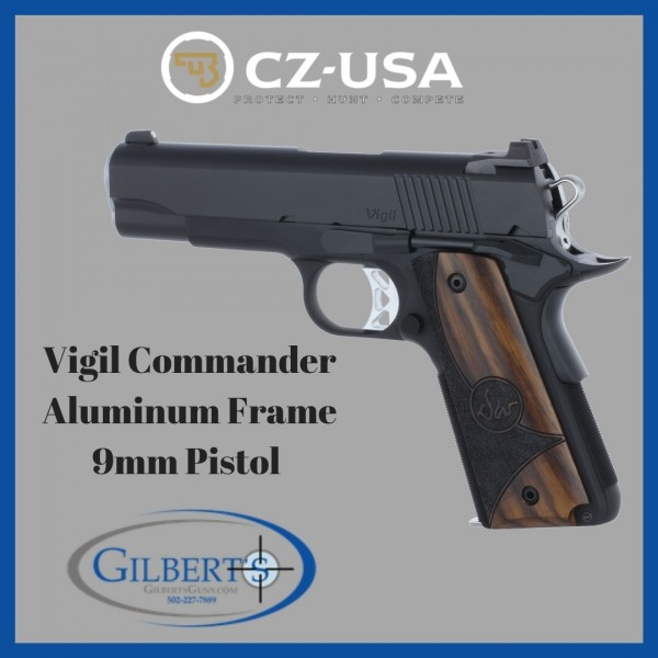 Dan Wesson Vigil Commander Aluminum 9mm Pistol 01835