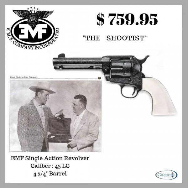 "EMF 1873 Great Western II The Shootist 45LC 4 3/4"" Revolver"