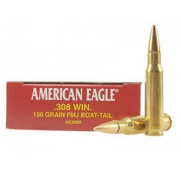 Federal AE308D American Eagle 308 150 Grain FMJ Ammunition