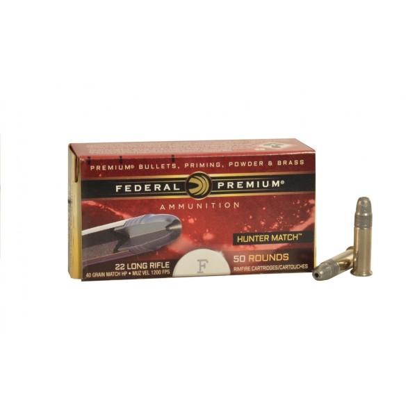 Federal Hunter Match 22LR 40 Grain Hollow Point Ammunition (500 Rounds)