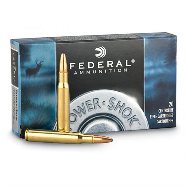 Federal Power Shok 308 150 Grain Soft Point Round Nose Ammunition 308A