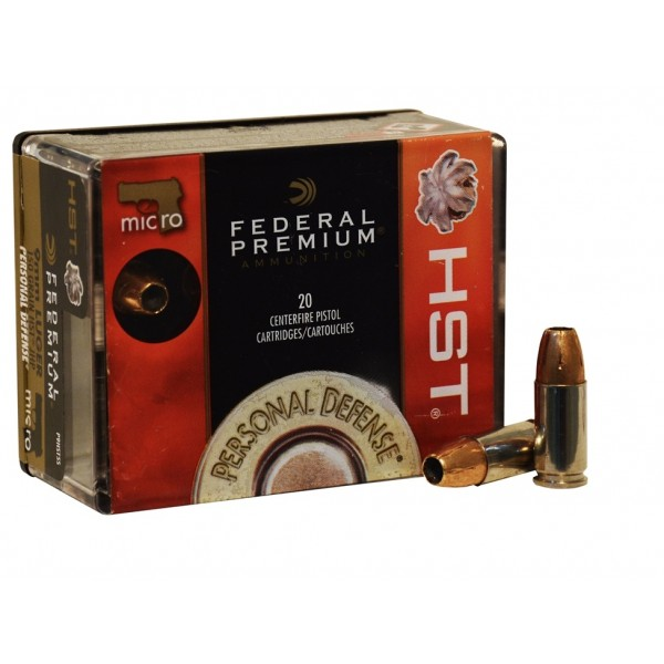 Federal 9mm Micro HST Ammunition P9HST5S