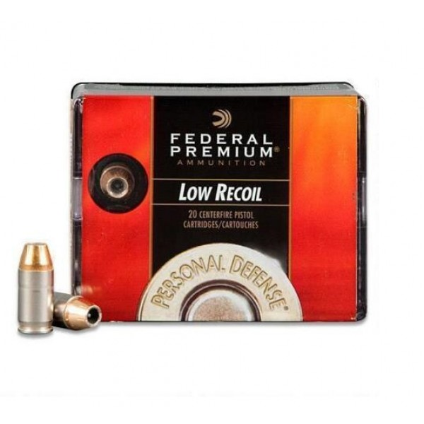 Federal PD380HS1H 380 ACP 90 Grain Low Recoil Ammunition