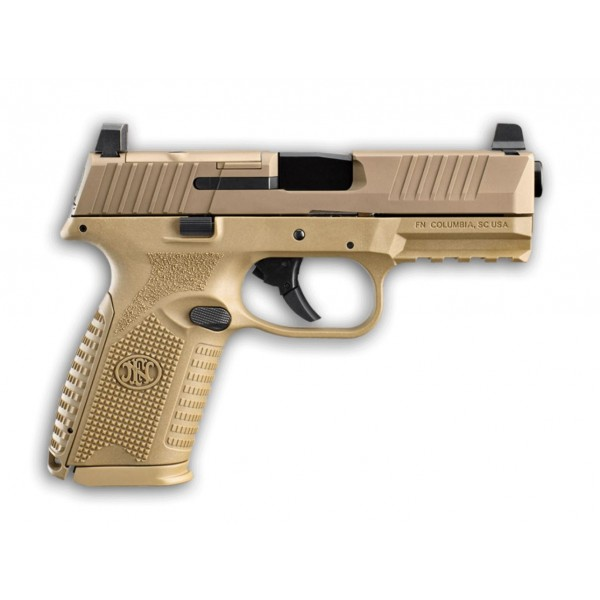 FN 509 Midsize 9mm MRD FDE Pistol With 2-15 Round Magazines 66-100741<