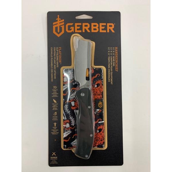 Gerber Flatiron Cleaver Knife With Handkerchief Gift Set  31-003849