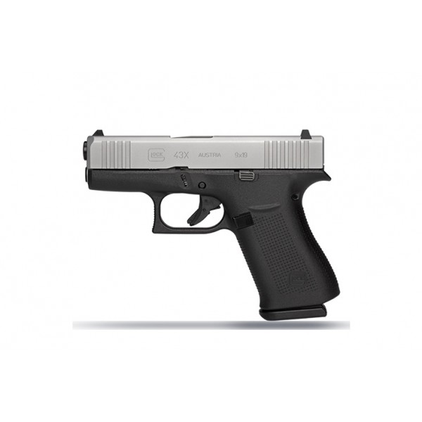 GLOCK 43X 9mm Pistol With 2-10 Round Magazines