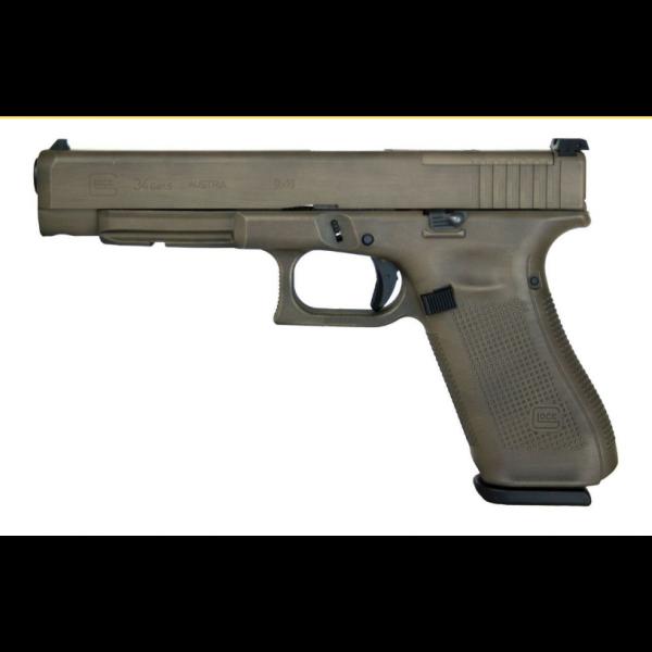 GLOCK 34 Gen 5 MOS Optic Ready 9mm FDE Battelworn Pistol