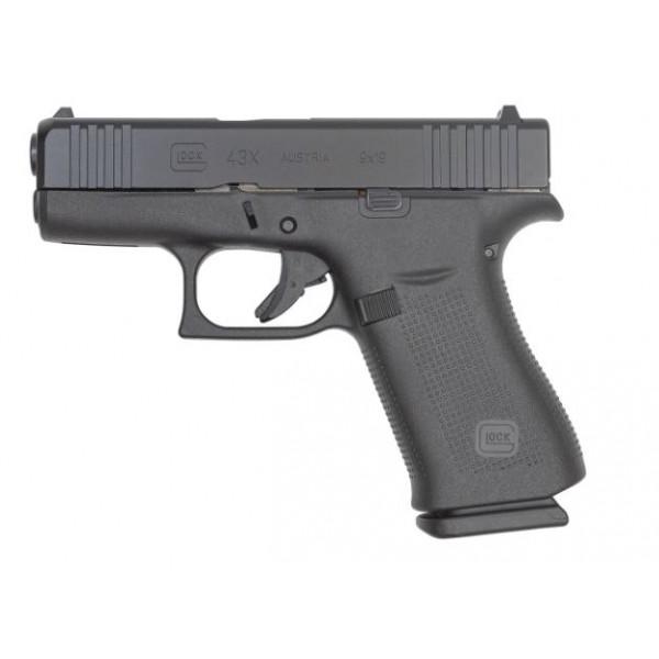 GLOCK 43X 9mm Pistol With Black Slide PX4350201